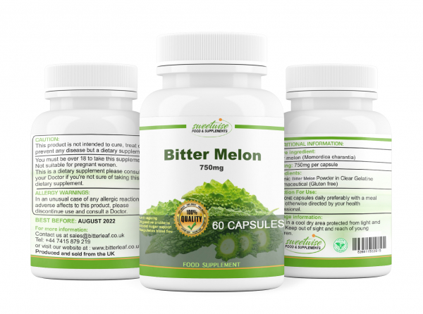 Bitter Melon Capsules 120 Capsules High Strength Organic