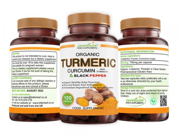 Turmeric Curcumin, Ginger and Black Pepper